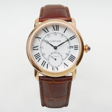 Cartier Ronde Louis automatic replica watch for men 18K pink gold